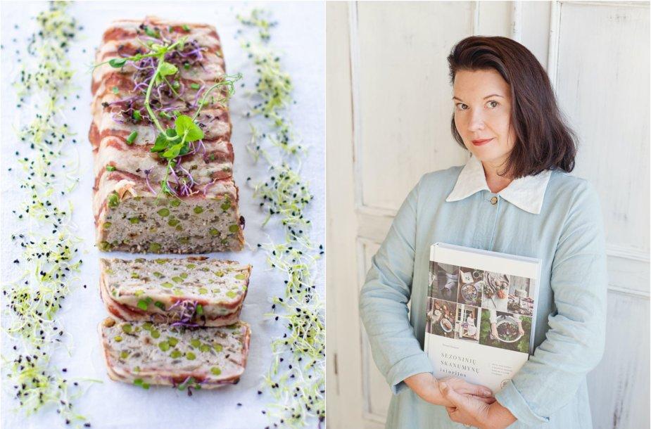 Renata Ničajienė ir jos keptas maltos kiaulienos terinas su žirneliais