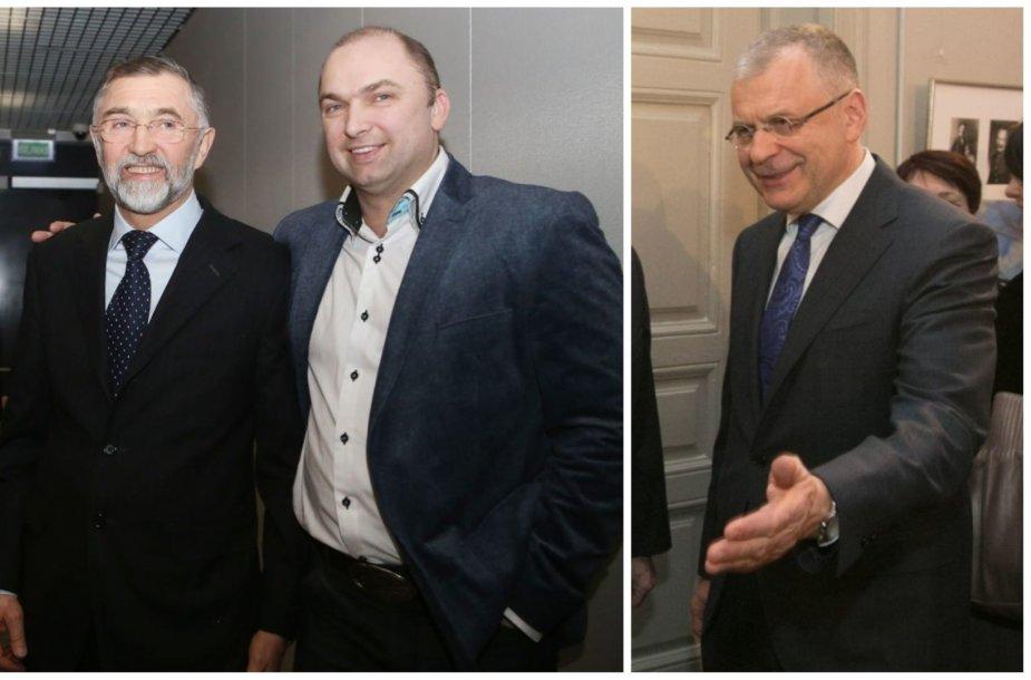 """Augustinas ir Artūras Rakauskai (nuotr. kairėje) ir jų partneris Alvydas Žabolis atšaukia savo pasitraukimą iš """"Danpower Baltic"""""""
