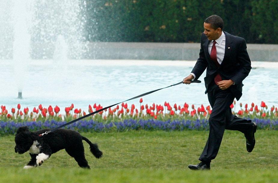 Barackas Obama su savo augintiniu