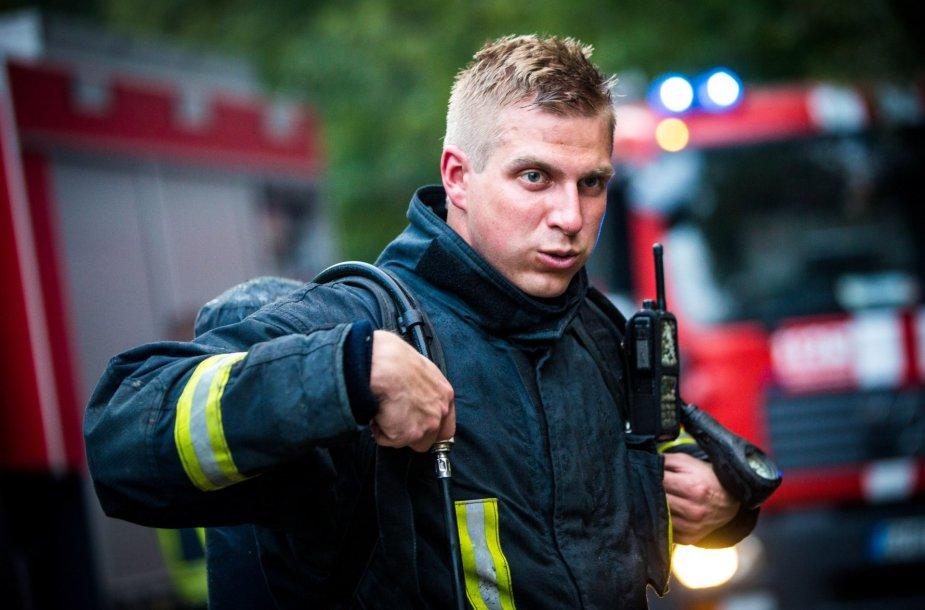 Ugniagesys gelbėtojas Mindaugas Valaitis