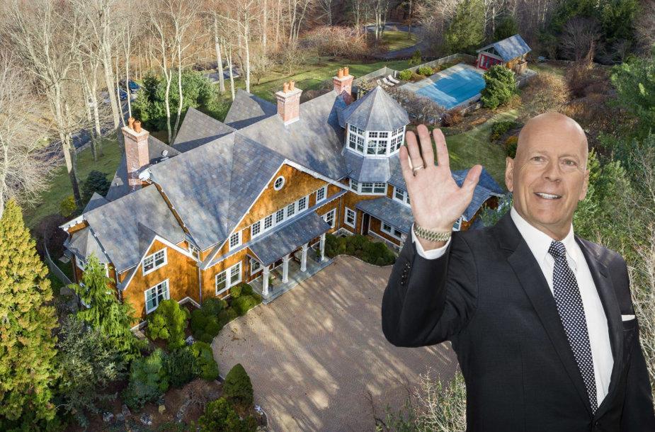 Bruce'as Willisas už 13 mln. dolerių parduoda užmiesčio vilą Niujorke