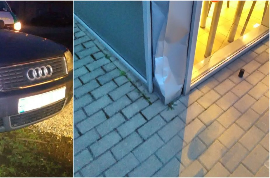 """Ramučiuose girtas vairuotojas su """"Audi"""" įvažiavo į pastatą"""