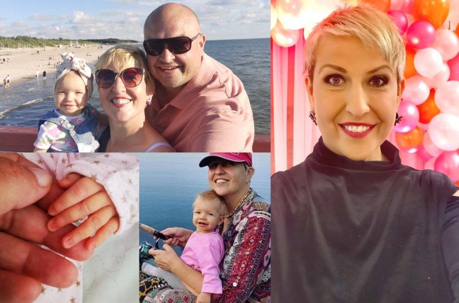 Laima Tamulytė-Stončė su vyru Gediminu ir dukra Emilija