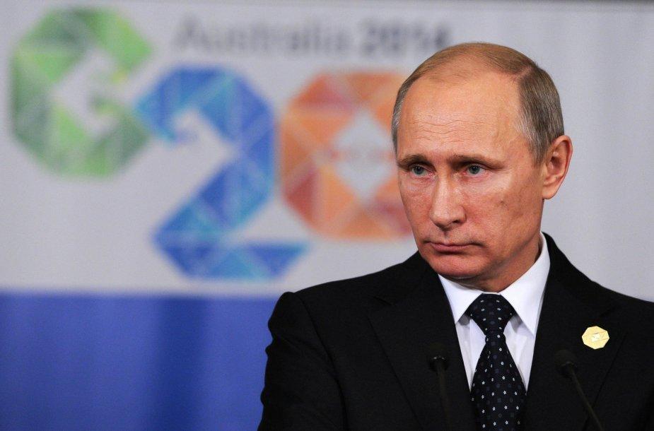 Vladimiras Putinas per Didžiojo dvidešimtuko (G – 20) viršūnių susitikimą Brisbane