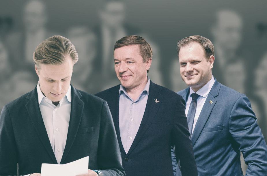 Gabrielius Landsbergis, Ramūnas Karbauskis ir Arvydas Nekrošius