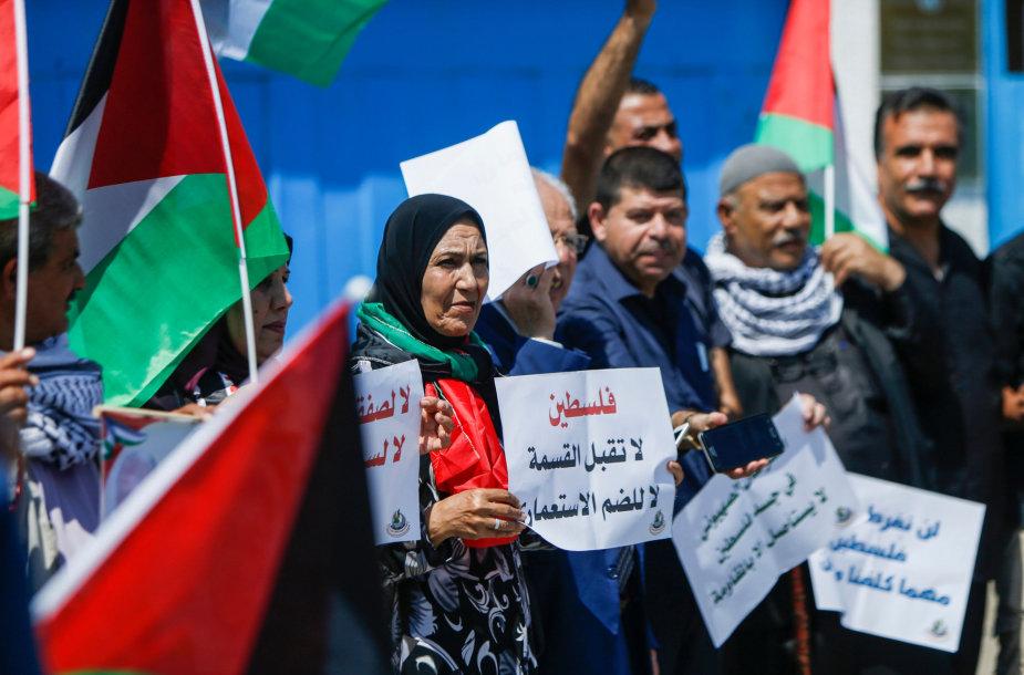 Palestiniečių protestas prieš planuojamą Vakarų Kranto aneksiją