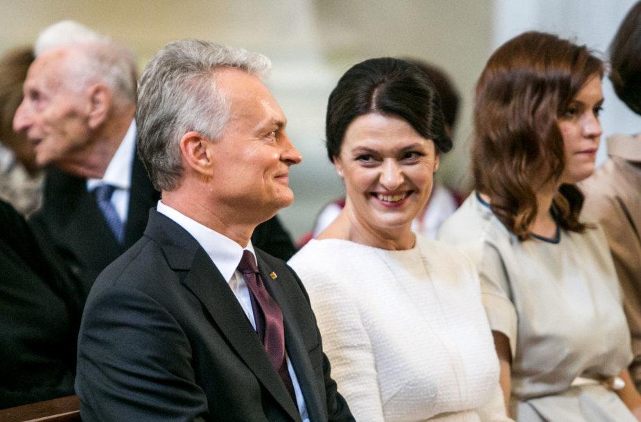 Gitanas Nausėda su žmona Diana