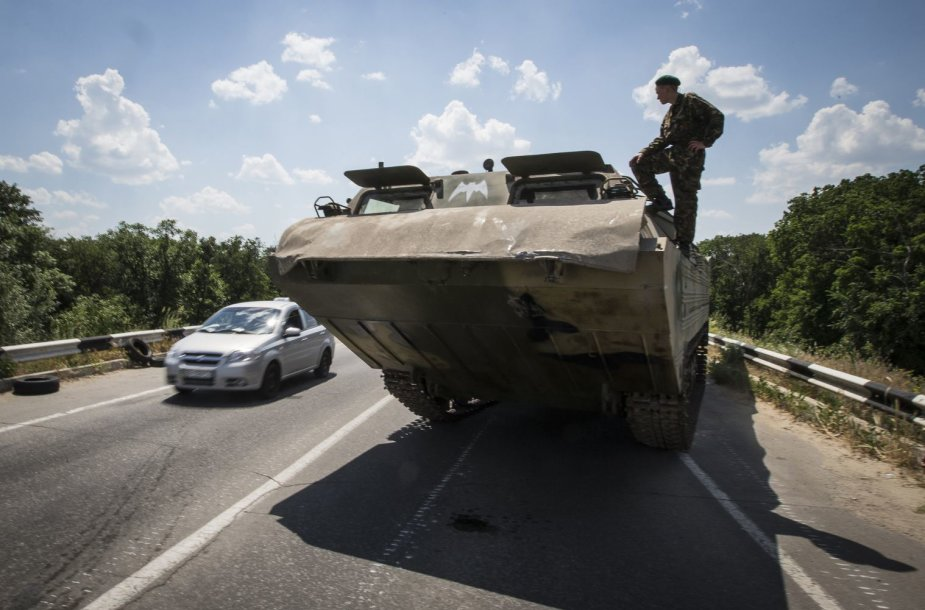 Prorusiškas teroristas netoli Luhansko