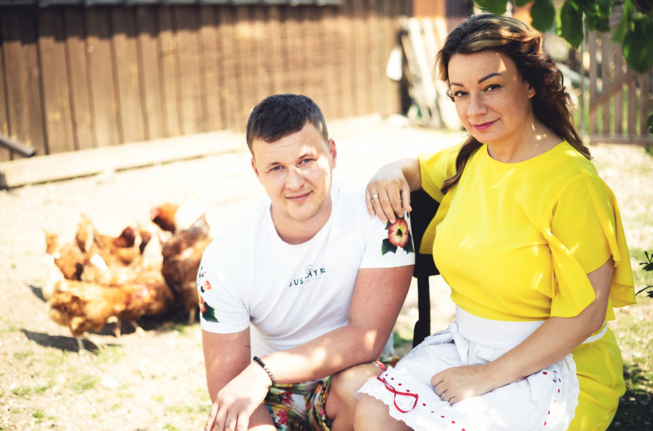 Rūta Lukoševičiūtė su vyru Mariumi Dauda
