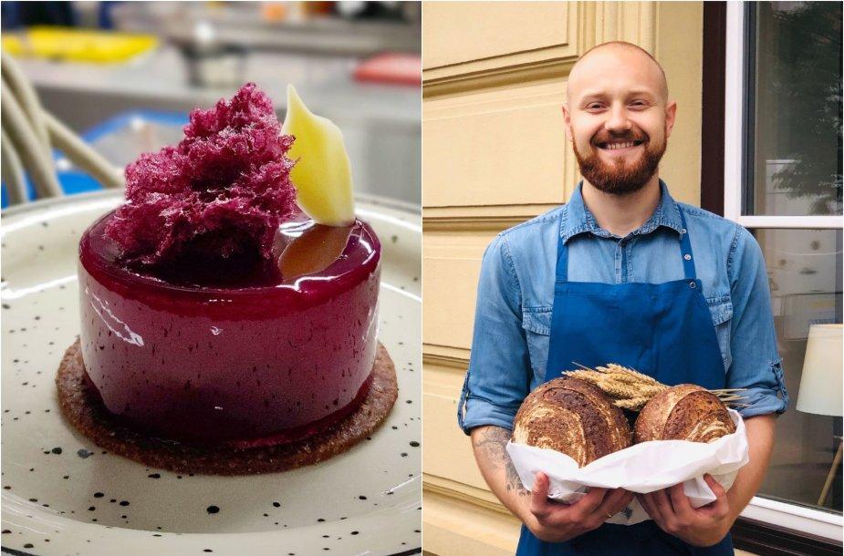 Tomas Kasiliauskas ir jo gamintas desertas