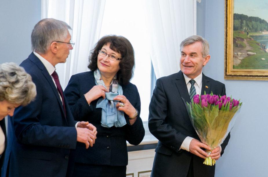Viktoras Pranckietis ir Rima Baškienė