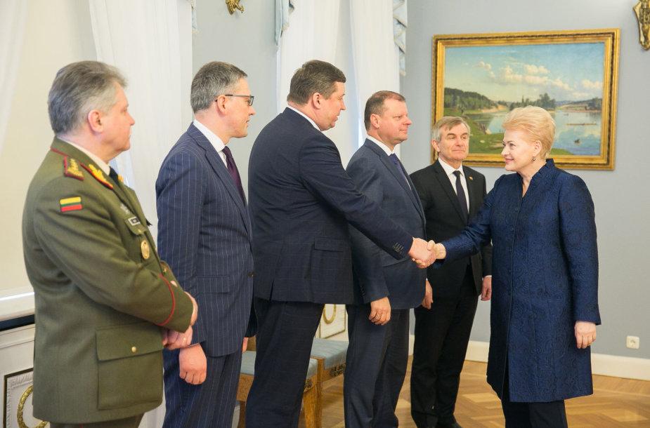Vytautas Jonas Žukas, Vytautas Bakas, Raimundas Karoblis, Saulius Skvernelis, Viktoras Pranckietis ir Dalia Grybauskaitė