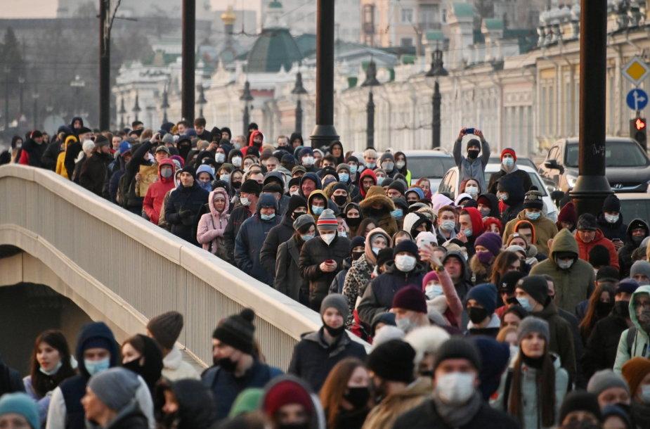 Aleksejaus Navalno rėmėjai Omske