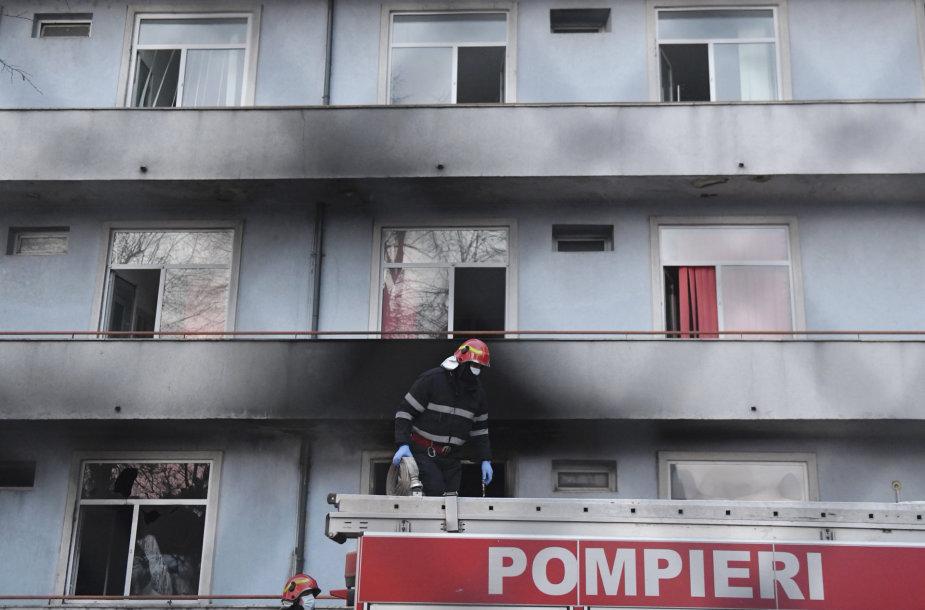 Gaisras Bukarešto ligoninėje