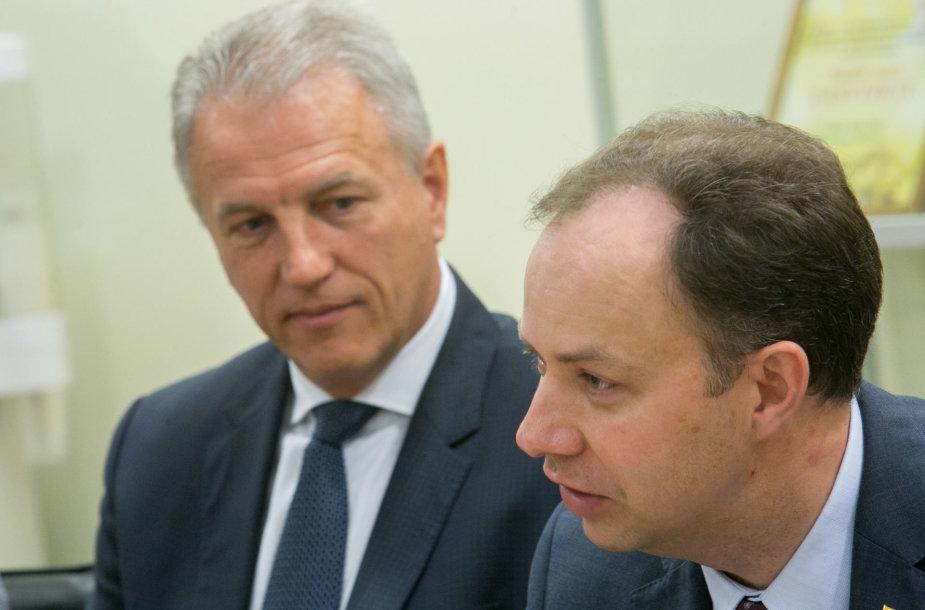 Kęstutis Strupas ir Aurelijus Veryga