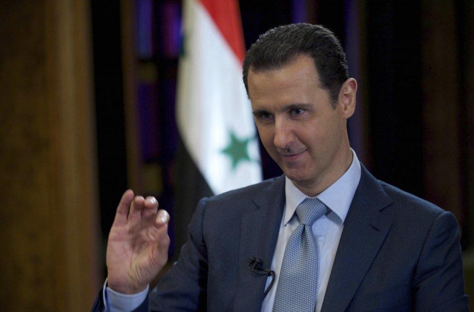 Sirijos diktatorius Basharas Al-Assadas.