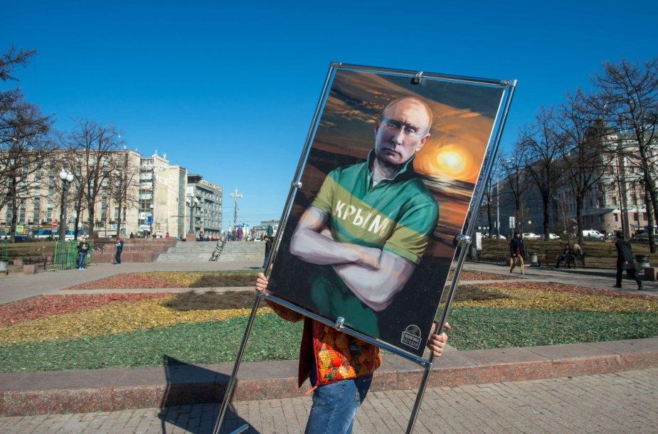 Paveikslas su Vladimiro Putino portretu