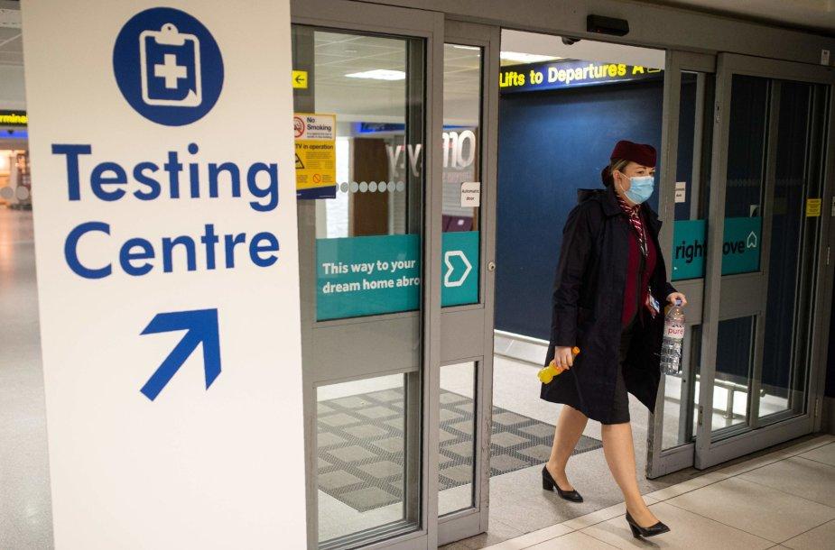 Jungtinėje Karalystėje plinta nauja koronaviruso atmaina