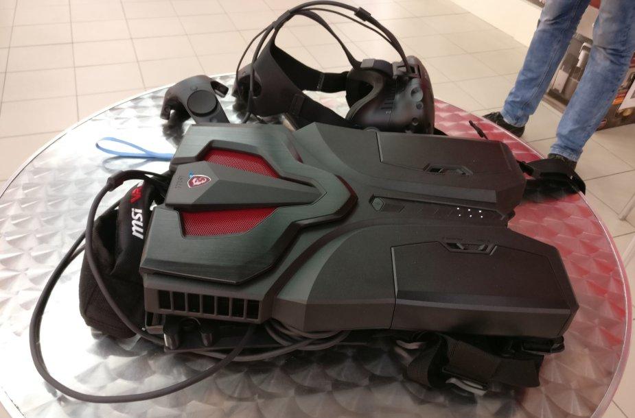 "Kompiuterio ""MSI VR One"" bandymai"