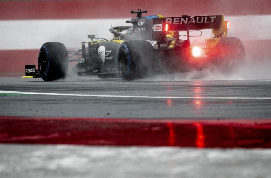 Formulė 1, lietinga Štirijos GP kvalifikacija Austrijoje, Daniel Ricciardo