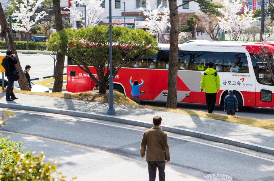 Lietuviai Pietų Korėjoje išvydo iš Šiaurės pabėgusios moters dramą