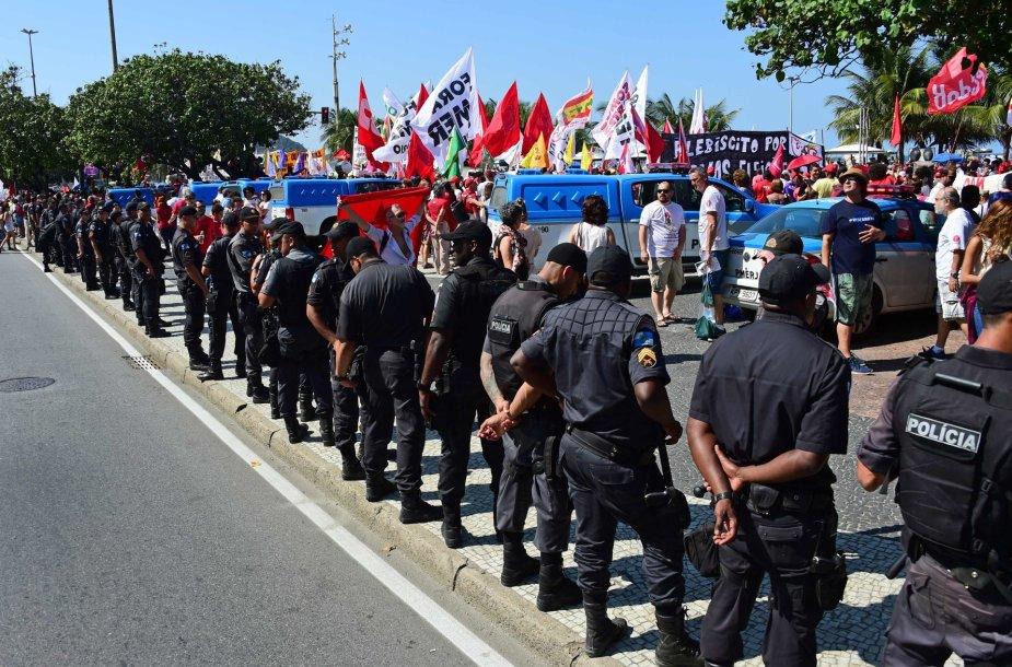 Protesto akcija Rio de Žaneire