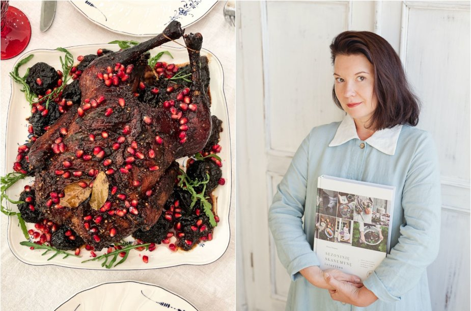 Renata Ničajienė ir jos ruoštas šventinis patiekalas