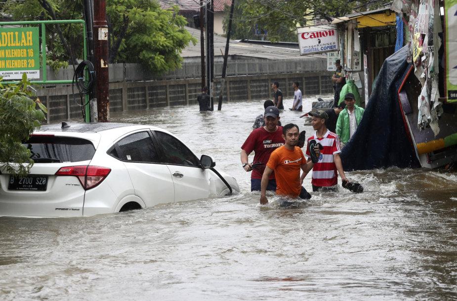 Potvynis Džakartoje