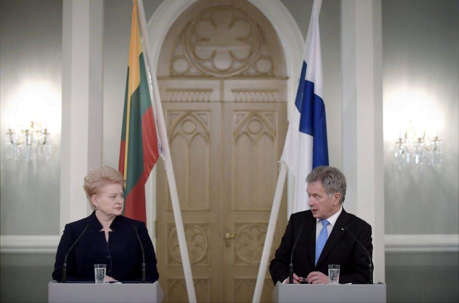 Dalia Grybauskaitė Helsinkyje susitiko su Suomijos prezidentu Saulis Niinisto
