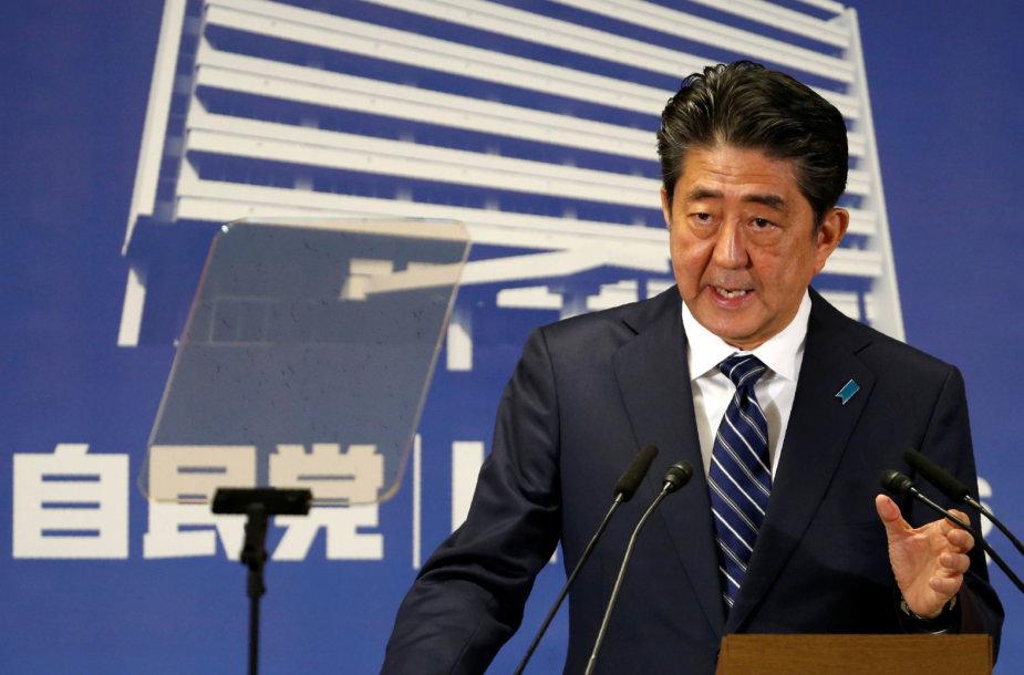 Japonijos premjero partija pelnė užtikrintą pergalę nacionaliniuose rinkimuose