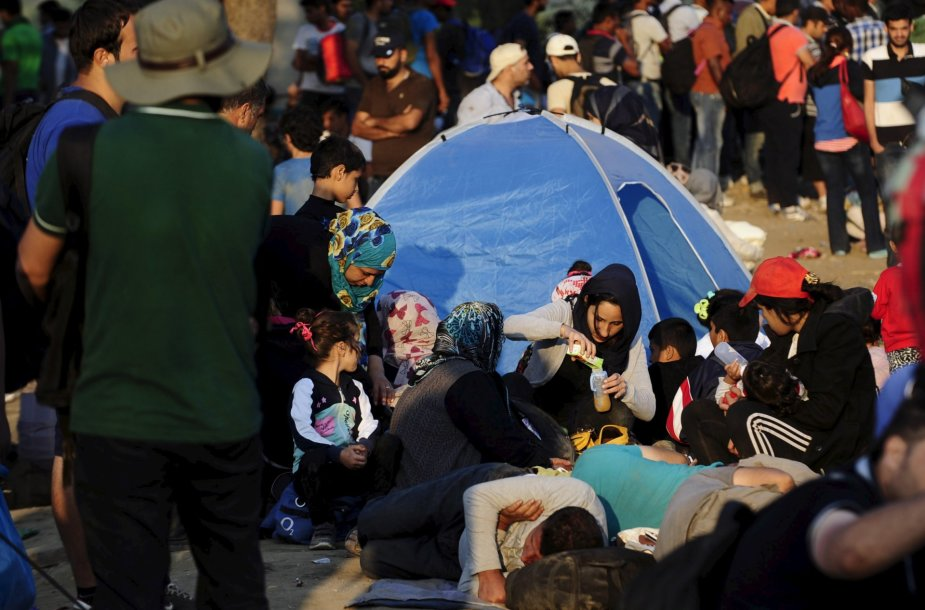 Migrantai Makedonijoje