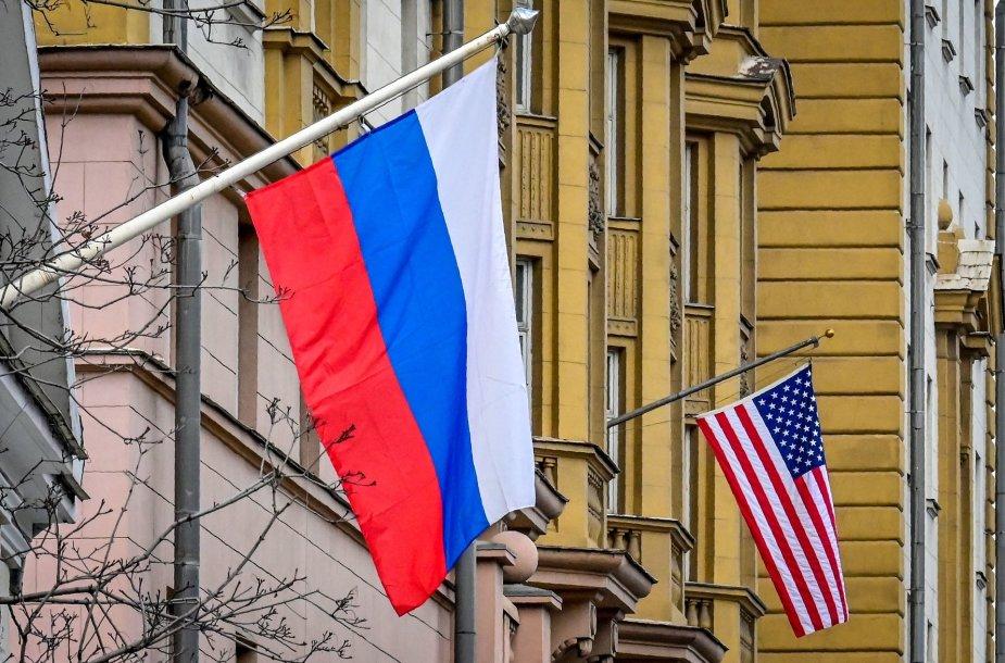 Rusijos ir JAV vėliavos