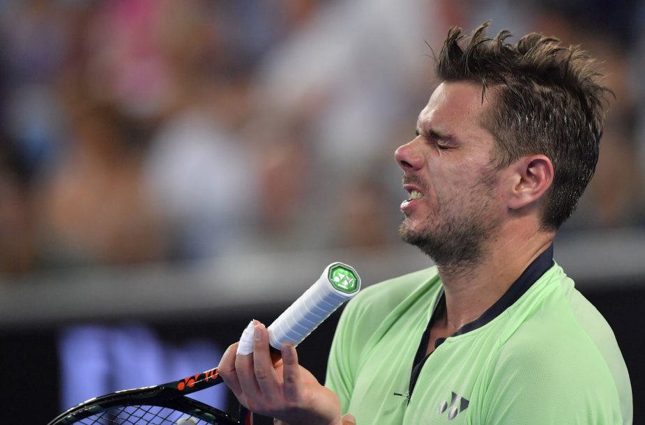 Stanas Wawrinka iškrito iš turnyro Melburne.
