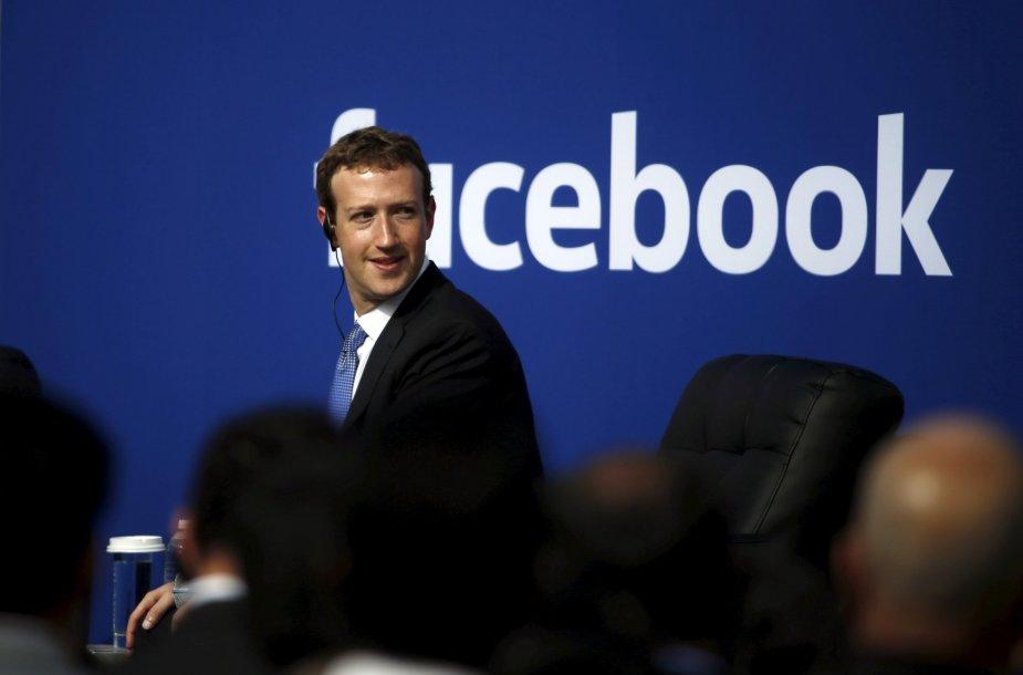 "19. ""Facebook"" generalinis direktorius Markas Zuckerbergas"