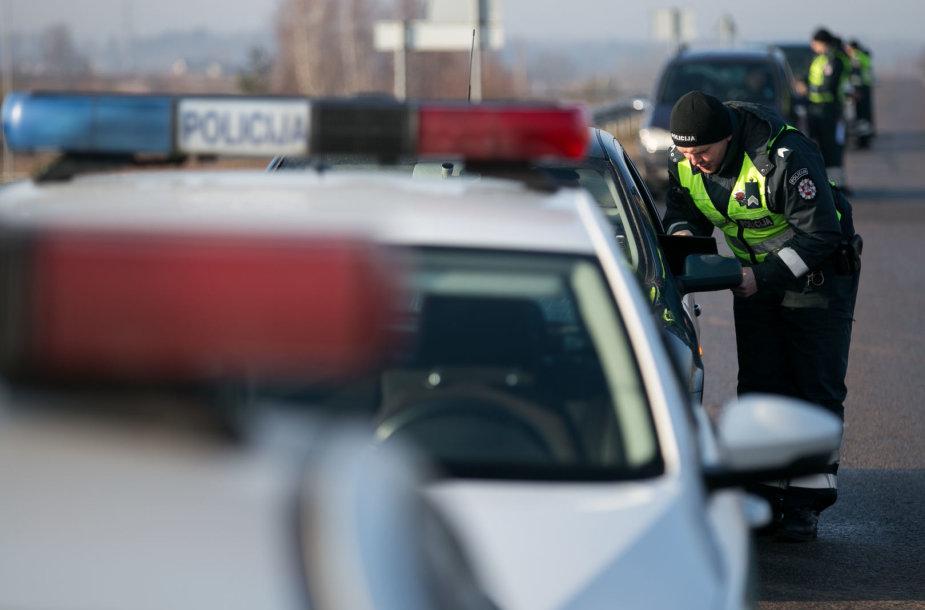 Rytinio policijos reido akimirka