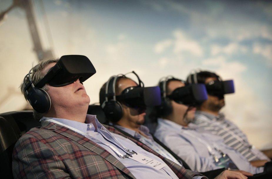 Virtualios realybės akinių demonstracija Las Vegase