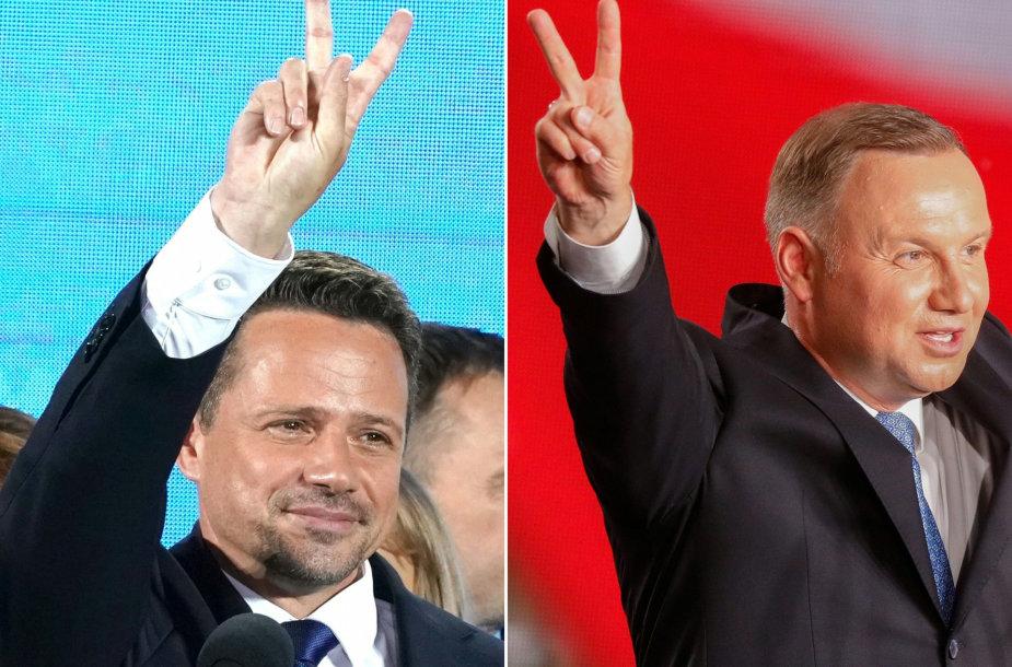 R.Trzaskowskis ir A.Duda