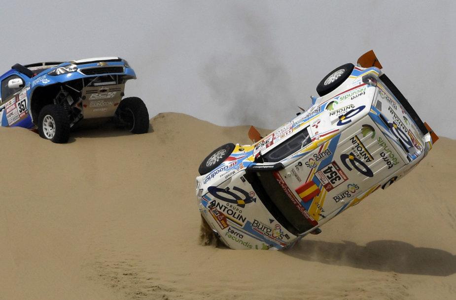 Ispanės Cristinos Gutierrez Herrero avarija pirmame Dakaro greičio ruože