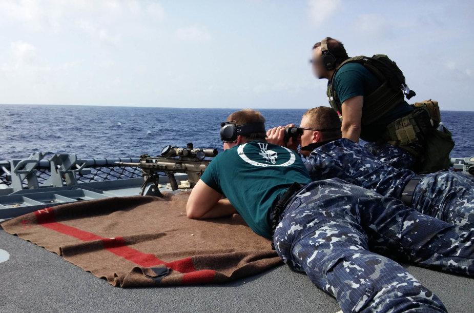 """Lietuvos kariai Viduržemio jūroje dalyvavo pabėgėlių gelbėjimo operacijoje """"Sophia"""""""