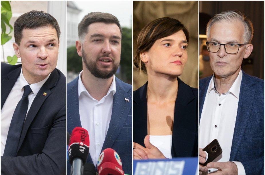 Paulius Saudargas, Vytautas Mitalas, Radvilė Morkūnaitė-Mikulėnienė ir Julius Sabatauskas