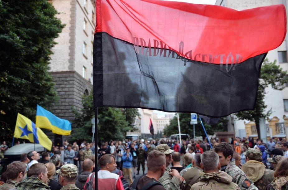 """""""Dešiniojo sektoriaus"""" nariai Kijeve"""