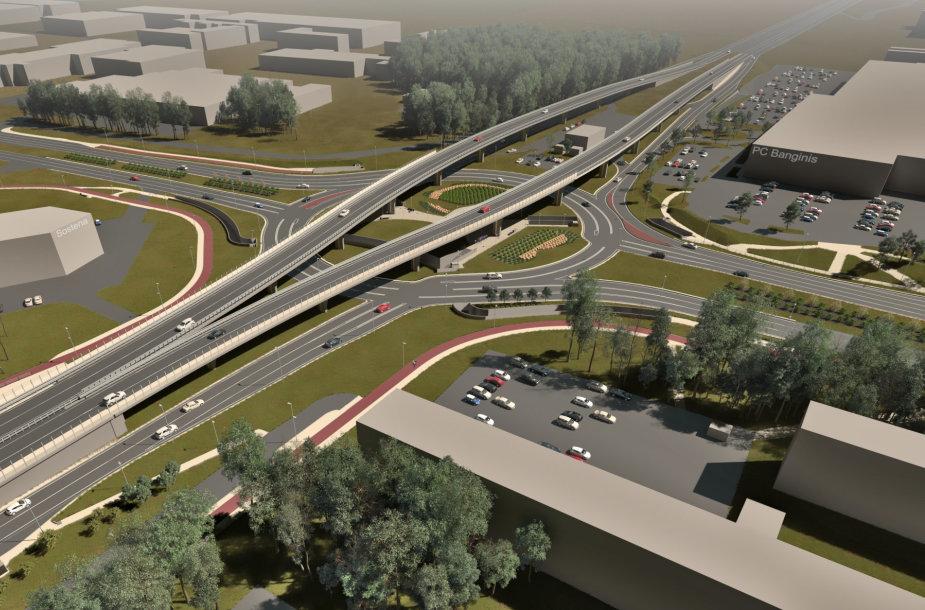 Baltijos prospekto žiedinė sankryža turėtų gerokai padidinti eismo pralaidumą į Klaipėdos miestą.