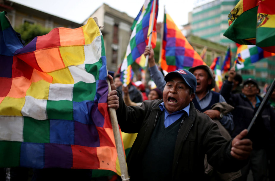Prezidento Evo Moraleso šalininkai