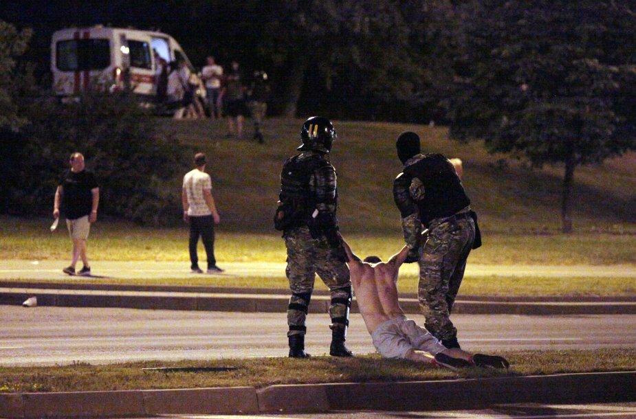 Baltarusijoje malšinami protestai