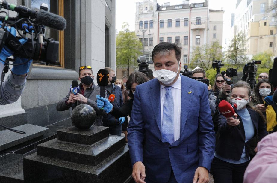 Į Kijevą grįžęs Michailas Saakašvilis