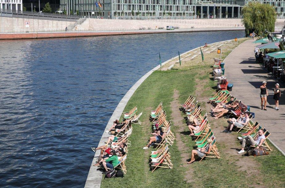 Karščio banga Berlyne 2019 metais: temperatūra karščio sala tapusiame mieste viršijo 40 °C