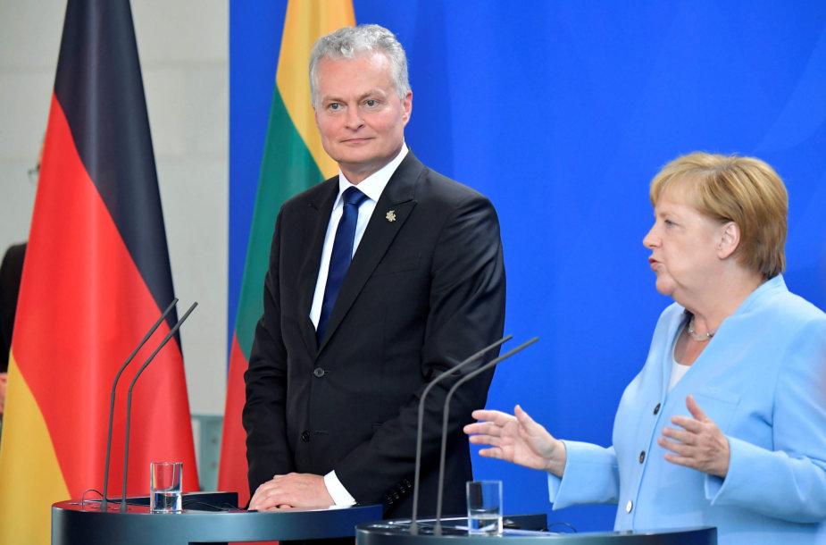 Gitanas Nausėda ir Angela Merkel