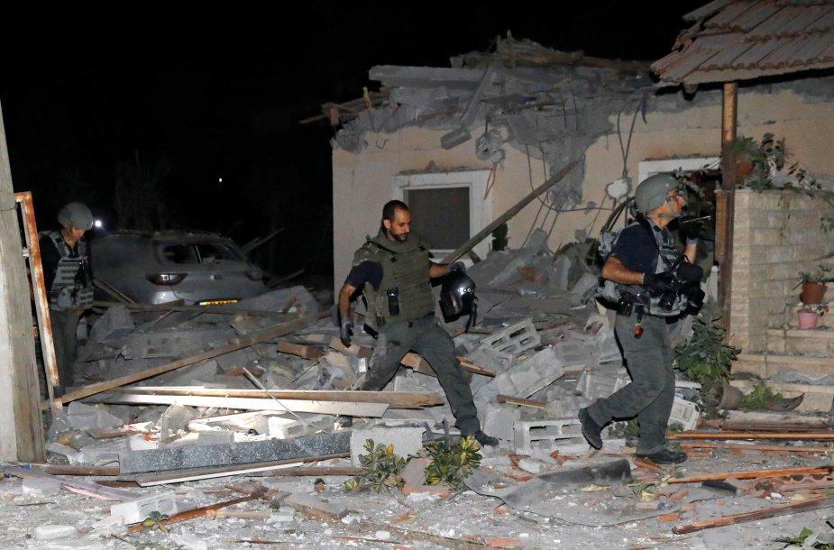 Apšaudyta Izraelio teritorija