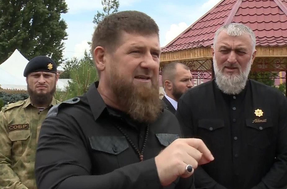 Ramzanas Kadyrovas ir Adamas Delimchanovas