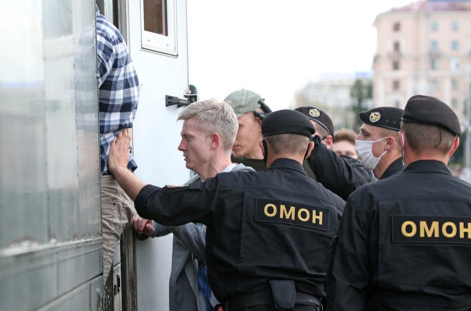 OMON pareigūnai Baltarusijoje
